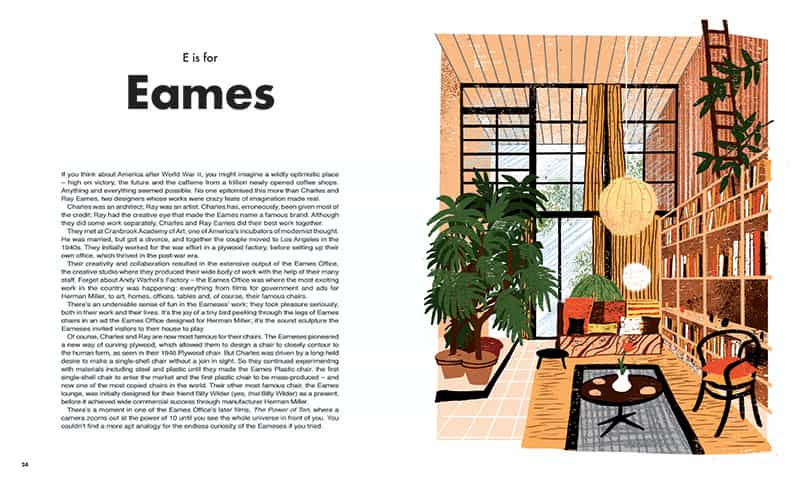 this is inside the book From A to Eames A Visual Guide to Mid-Century Modern Design