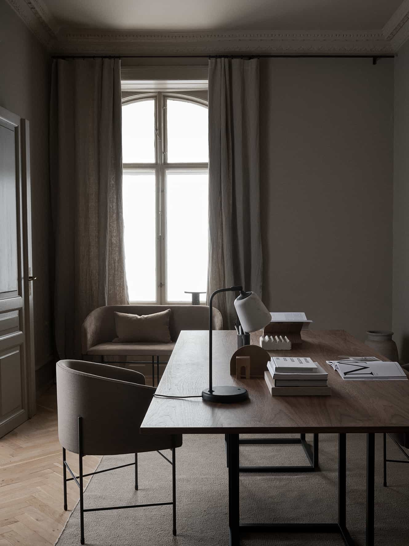 this is a Florence dining table from New Works