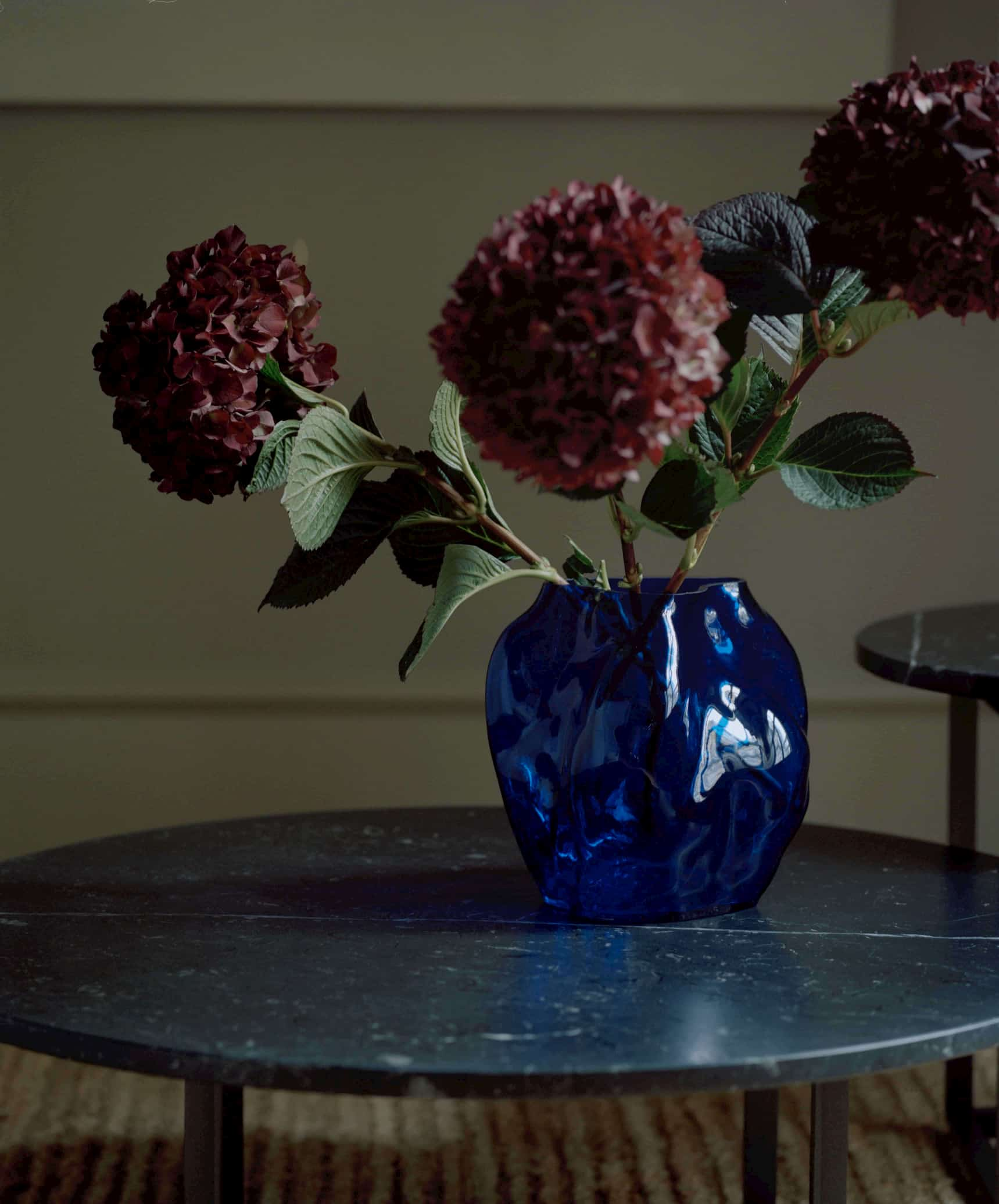 this is a blue ceramic vase from New Works for Scandinavian interior