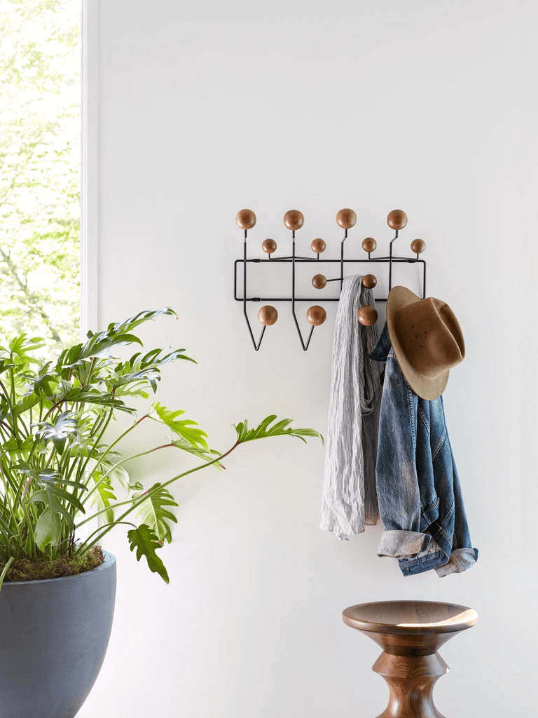 this is the Hang It All rack designed by Charles and Ray Eames