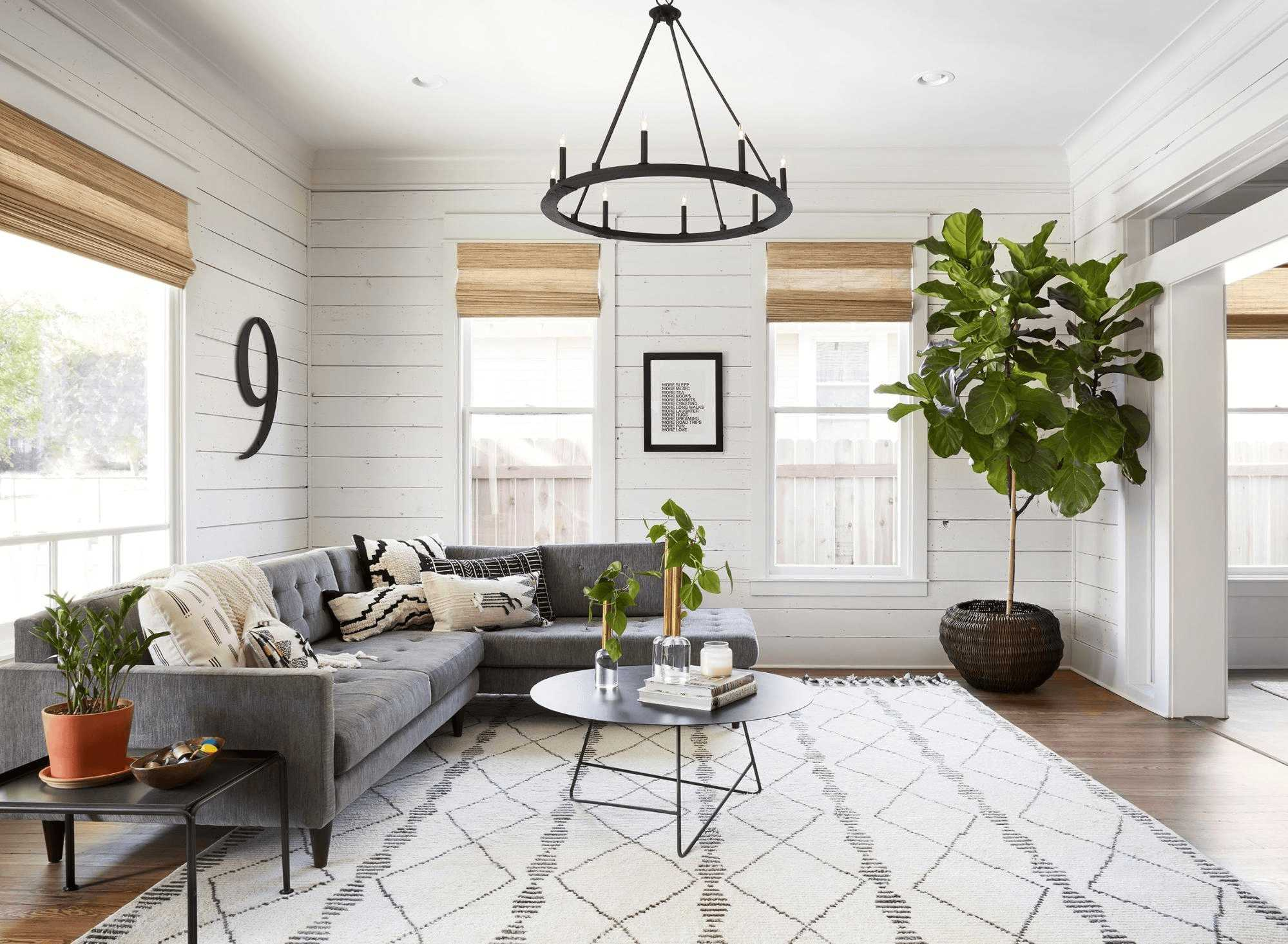this-is-a-farmhouse-liiving-room-with-Nature-Inspired-Aesthetics-and-reclaimed-wood-with-plants1