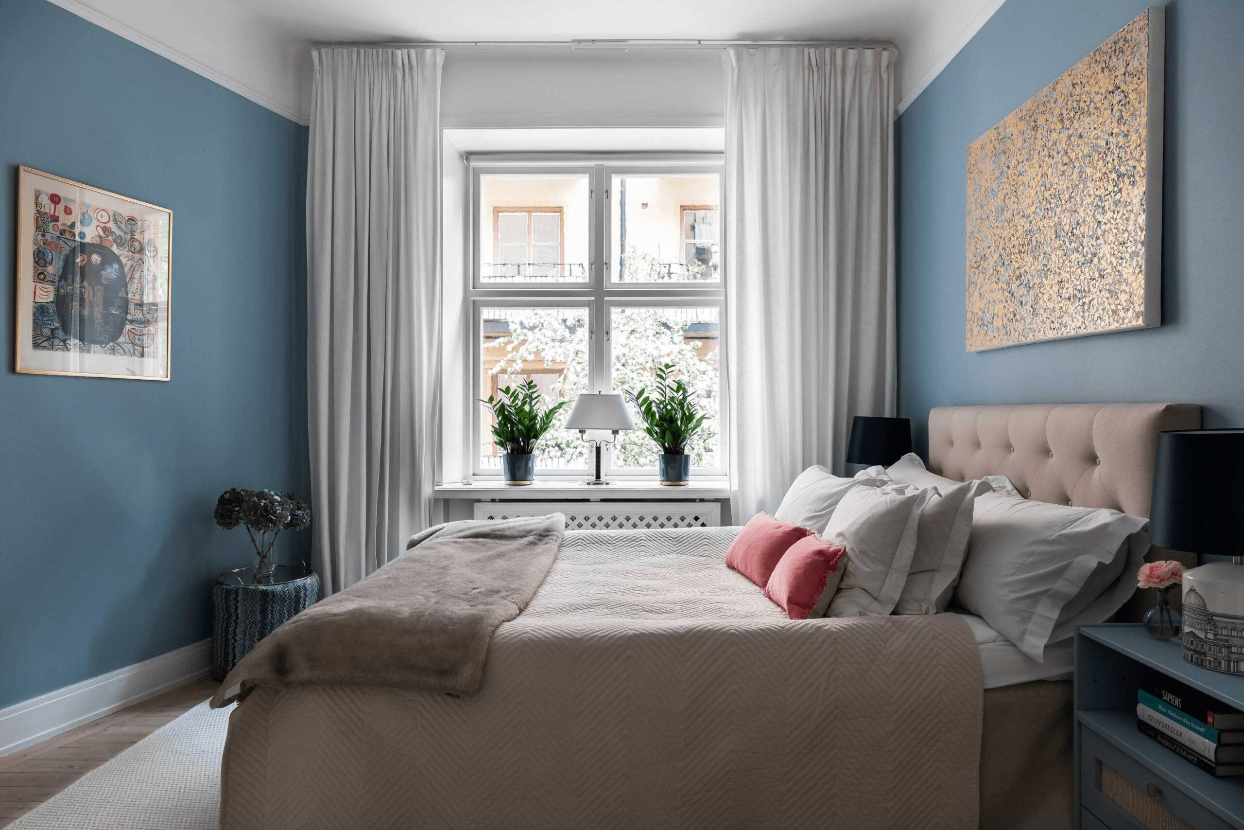 this-is-art-inspired-Scandinavian-style-apartment-a-look-at-the-bedroom-with-a-classic-double-bed-