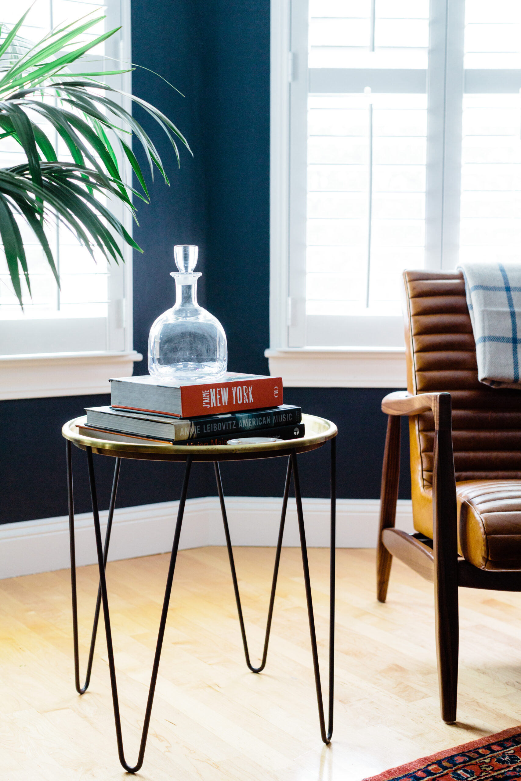this is a project by Jessica Klein featuring a mid century modern chair and table