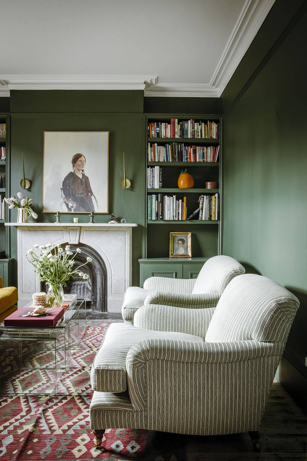 this is a 2021 home trend using dark hue colour palette