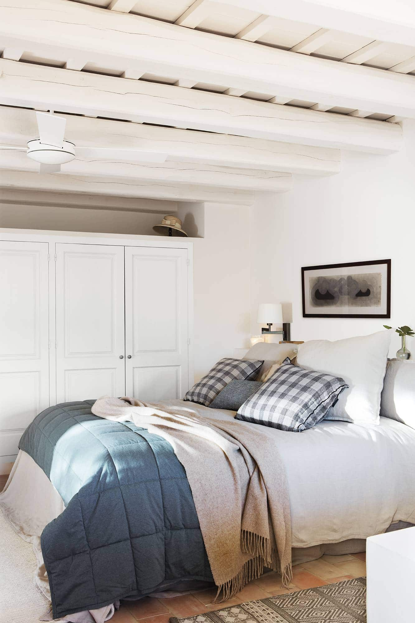 this is a bedroom with storage