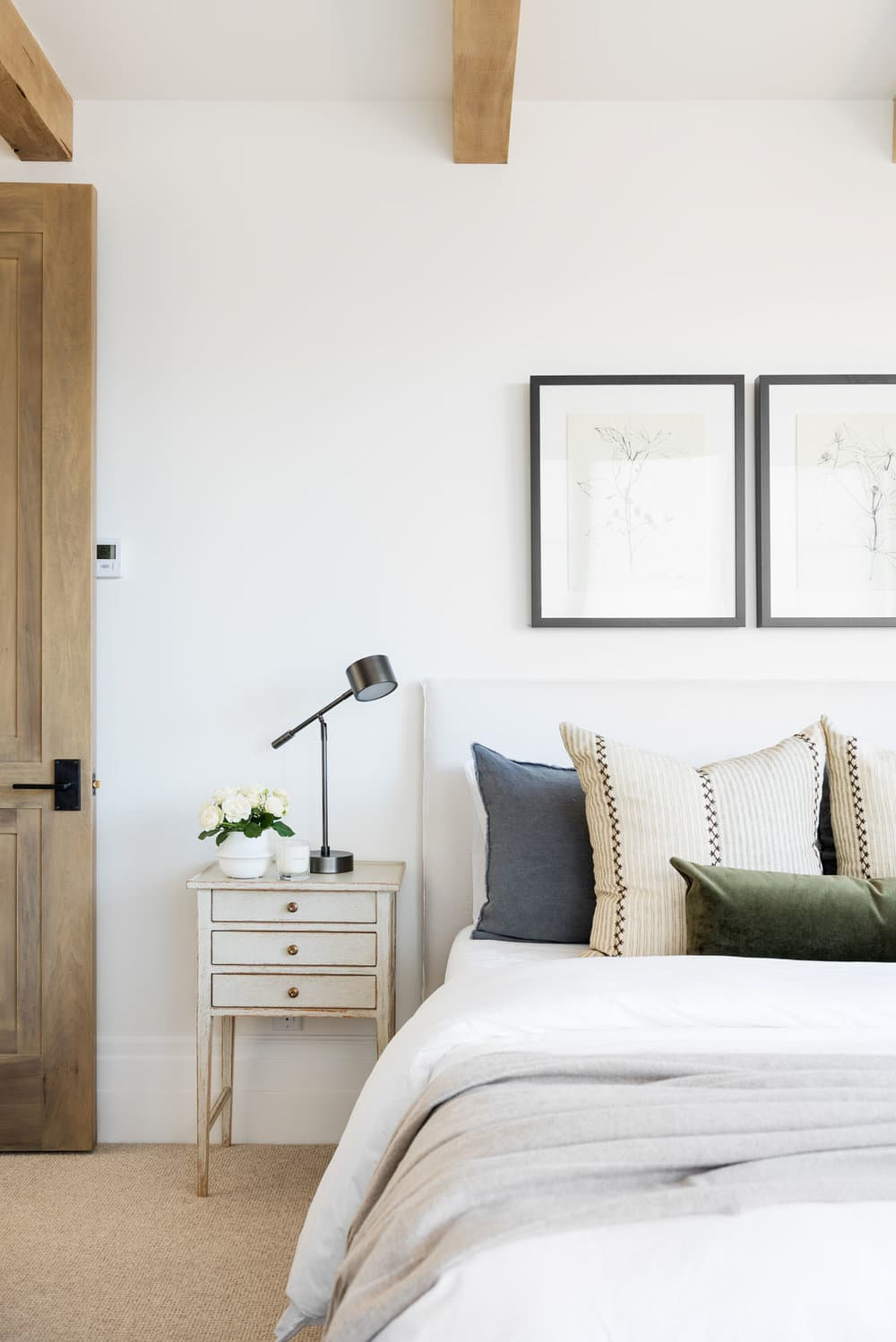 this is a calming bedroom by studio mcgee with minimal decoration