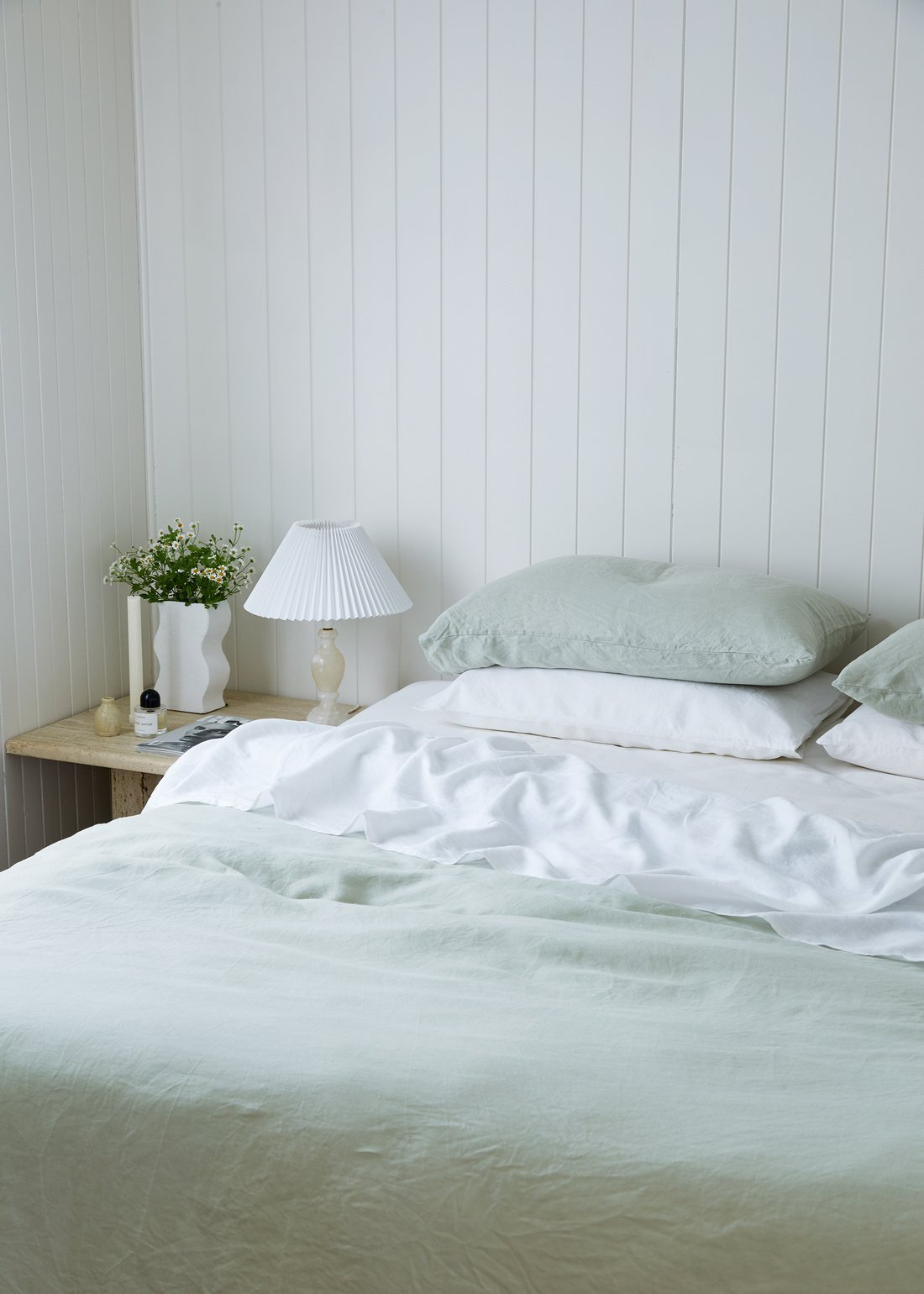 this is a calming bedroom with light tones by lisa danielle smith