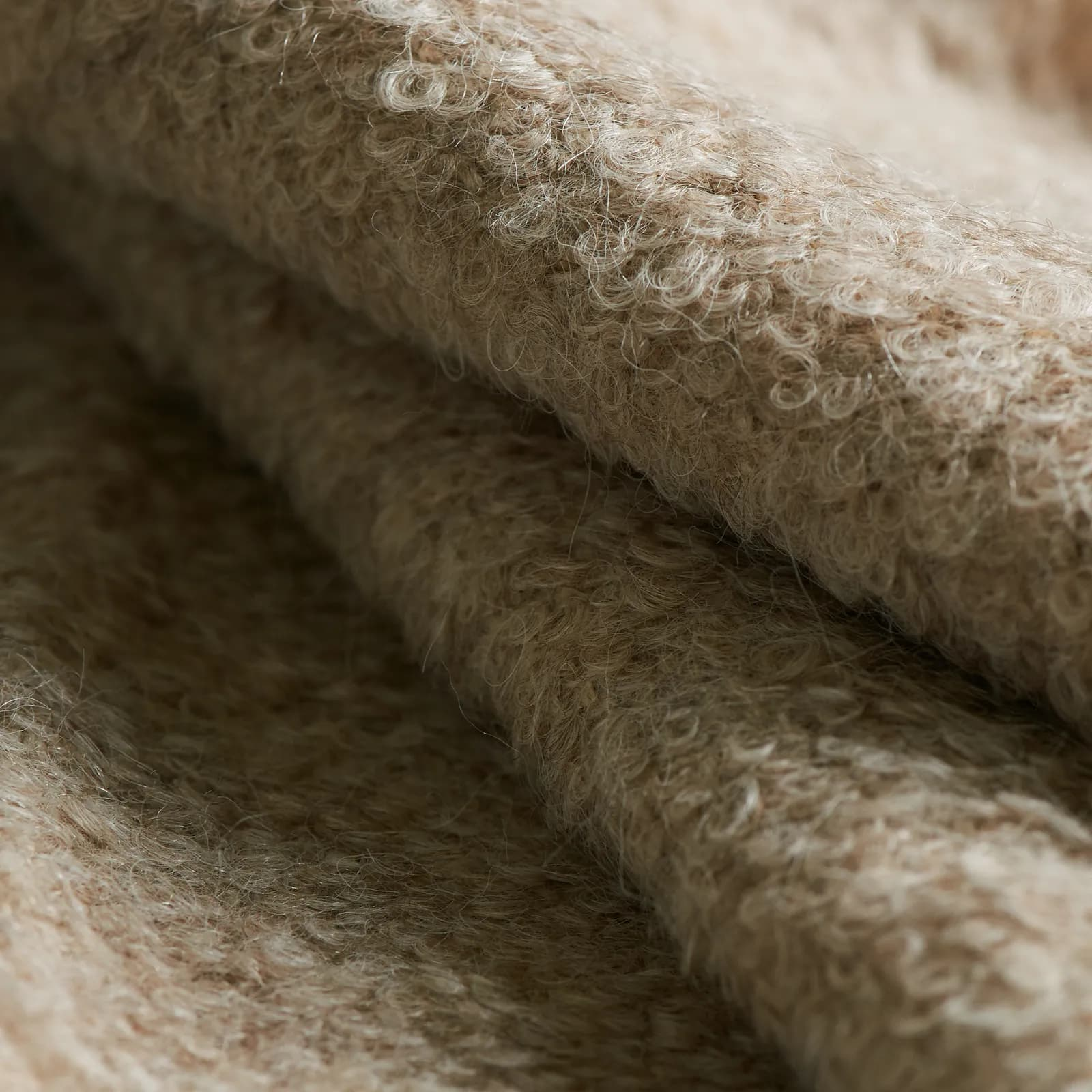 this is a close up of boucle yarn