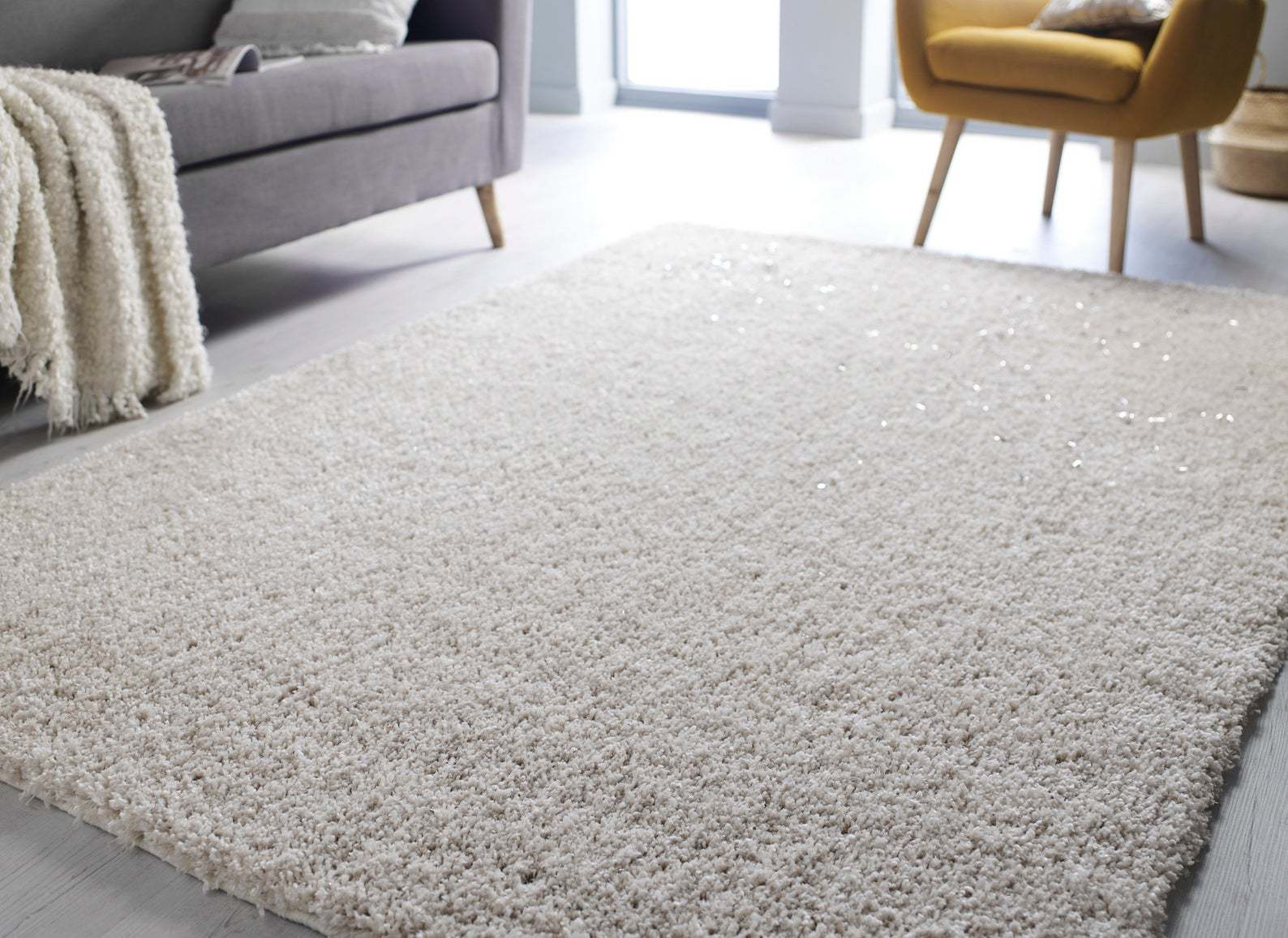 this is a ivory mid century modern rug