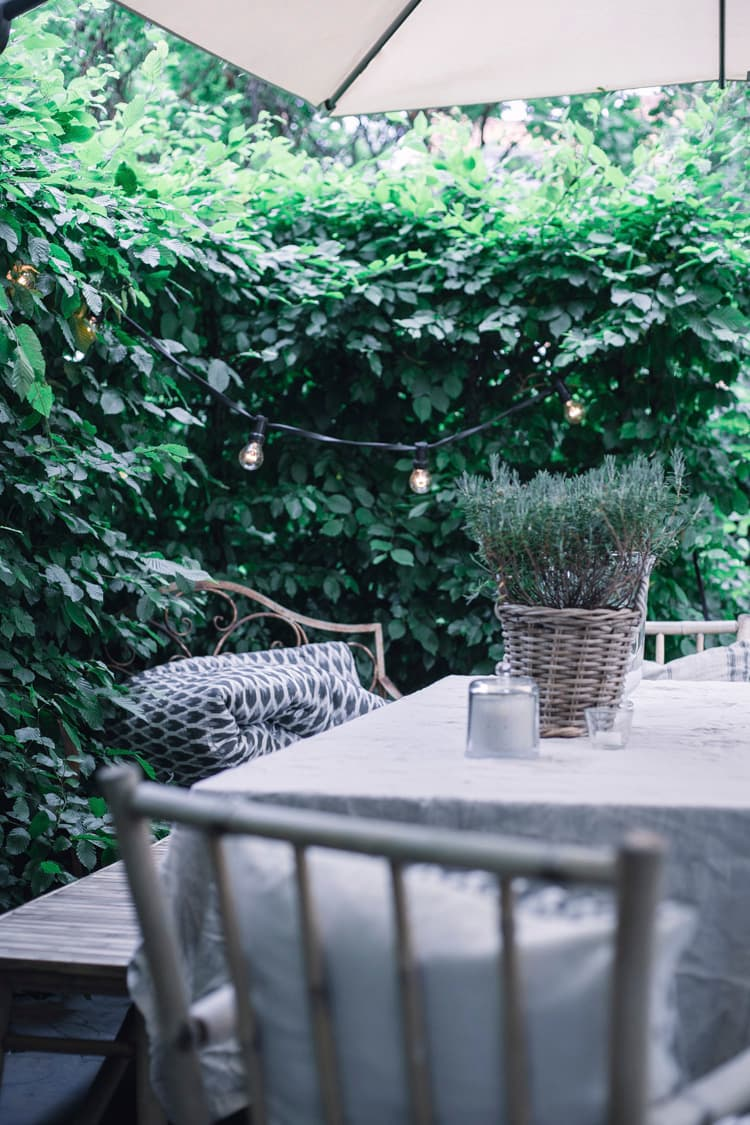 this is a small back garden by scandinavian home