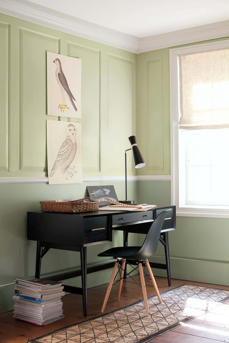 this is a fresh green workspace by dear designer
