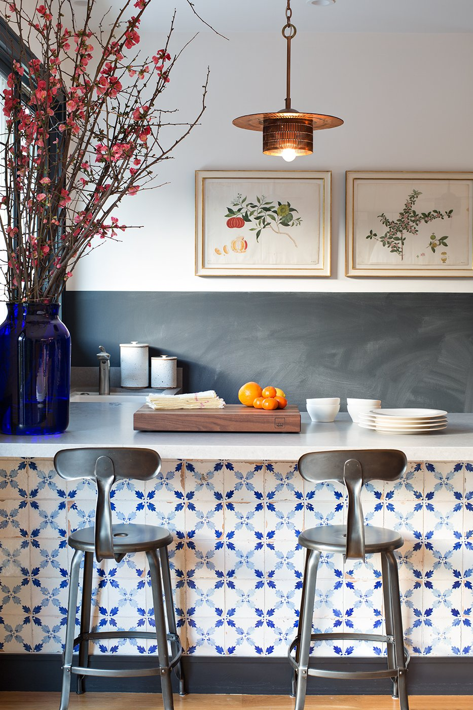 this is a kitchen with portugese tiles by nickey kehoe