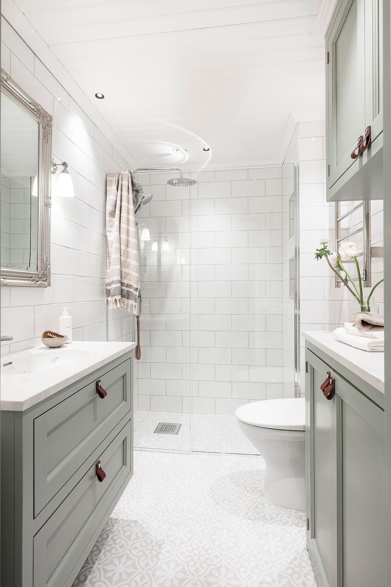 this is a minimal harmonious bathroom in a scandinavian home
