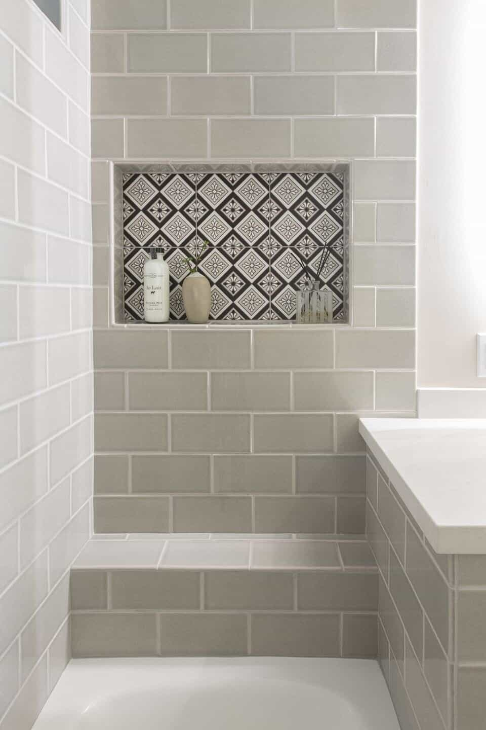 this is a project by nina jizhar with minimal and patterned tiles