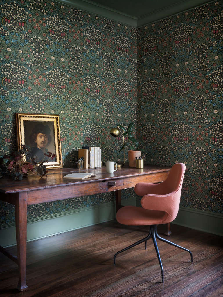 this is an eclectic home office by jessica helgerson