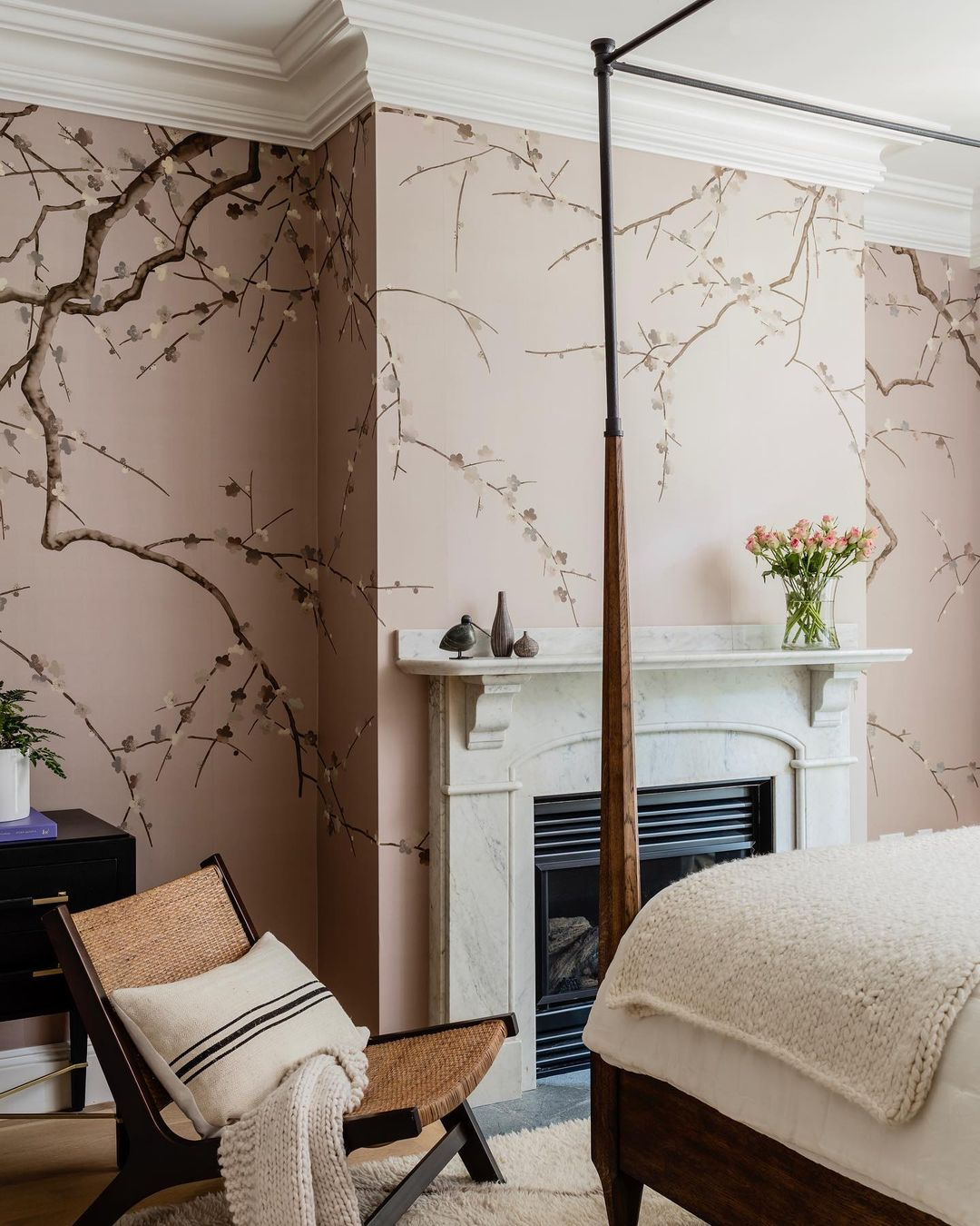 this is a japanese inspired wallpaper by de gournay