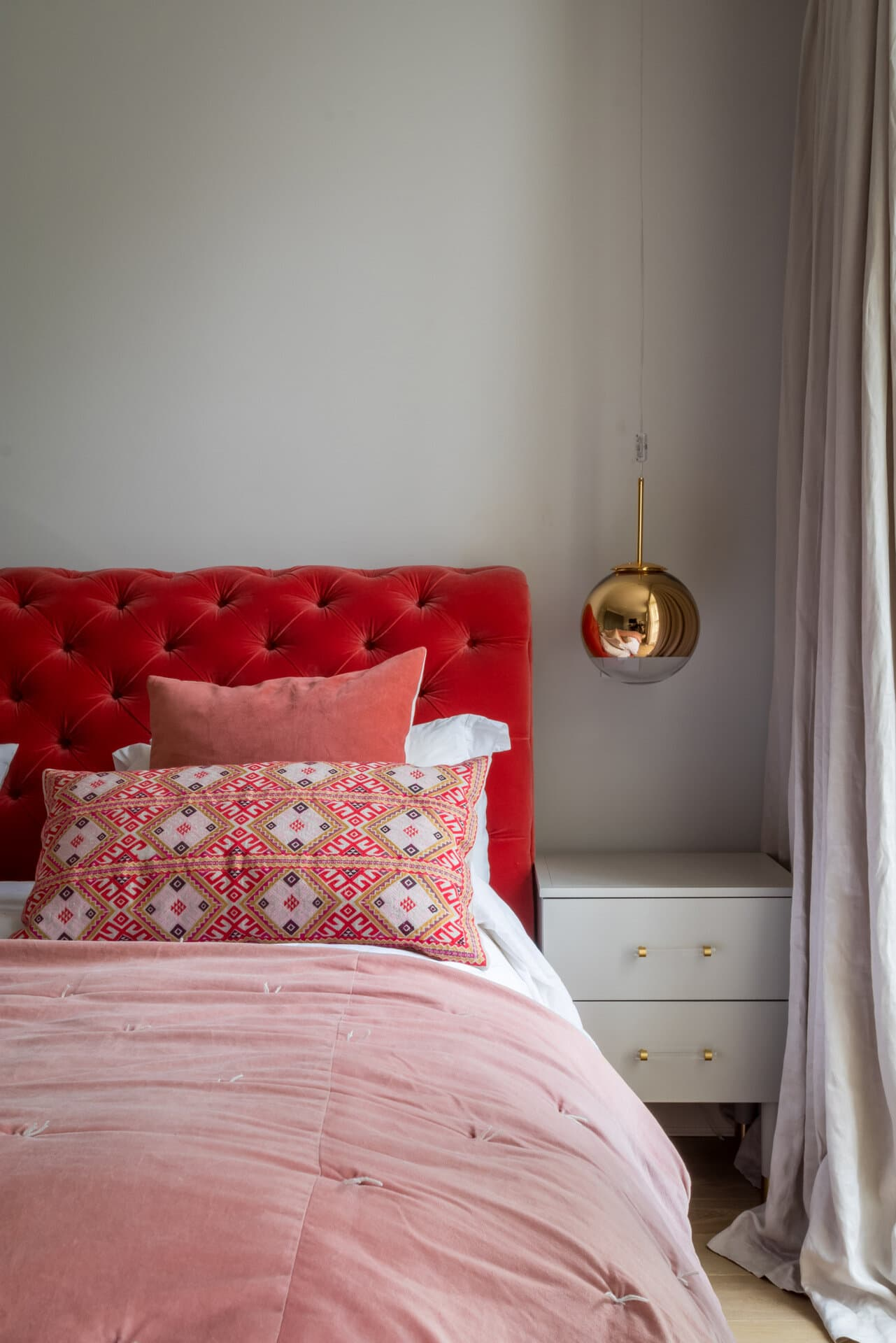 this is an example of colour blocking with paint and furniture by honey bee interiors