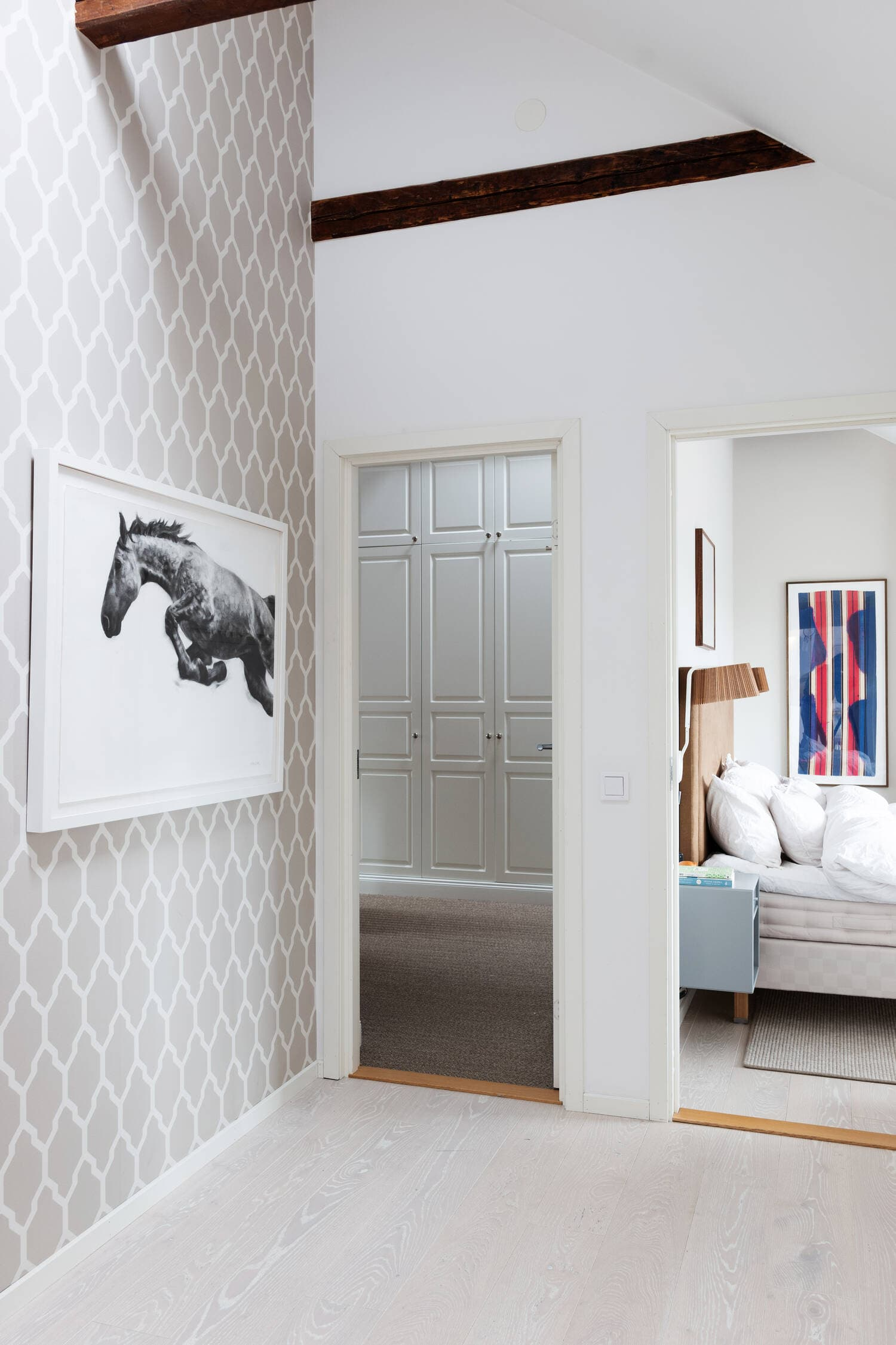this is an example of geometric wallpaper featured on per jansson