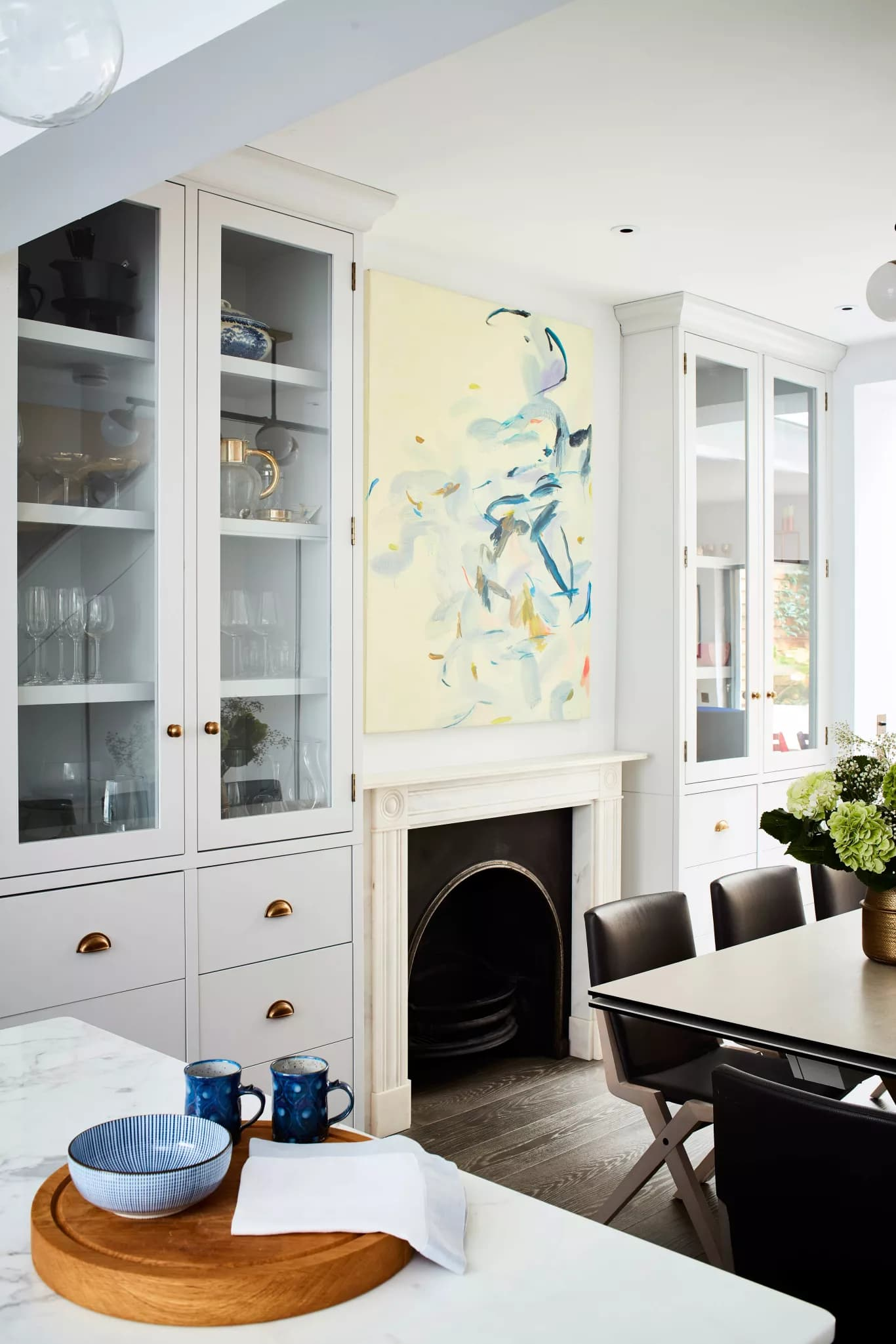 large canvas artwork in a colourful london townhouse by living etc