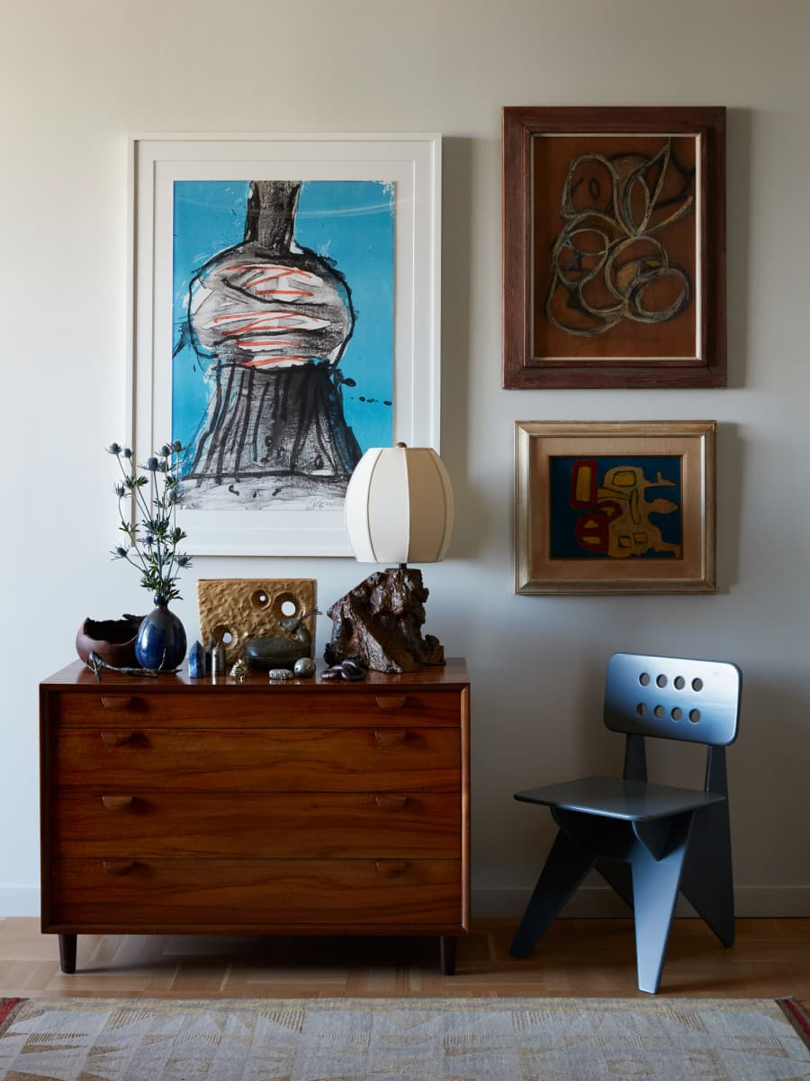 this is a collection of artwork as a gallery wall by commune design