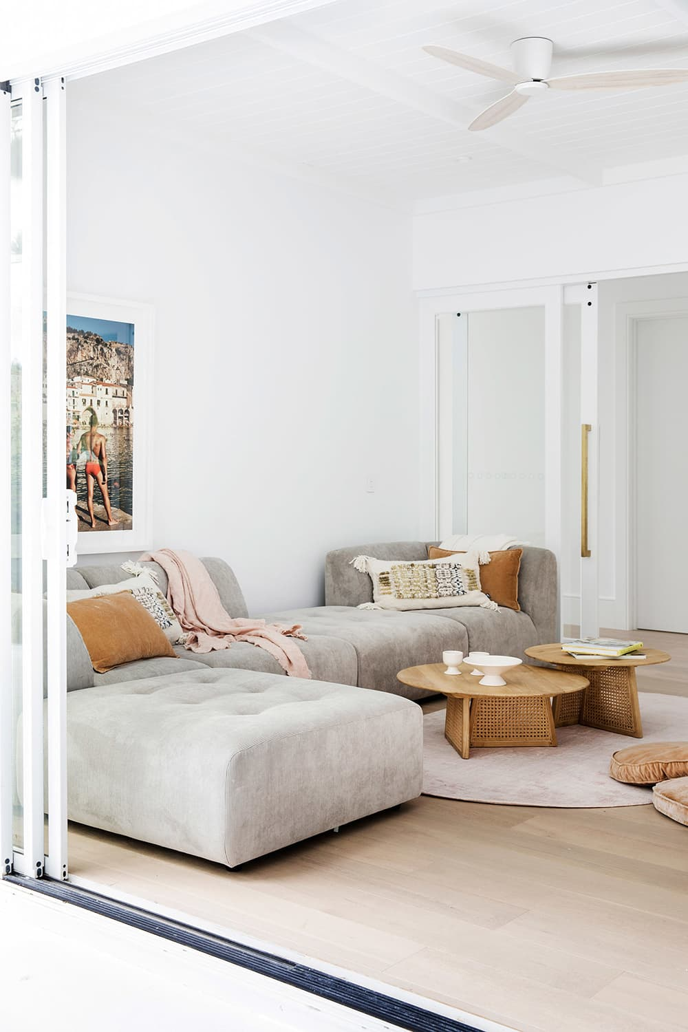 this is an example of modular velvet sofa by sf girl by bay