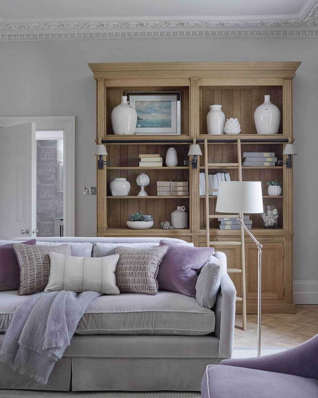 this is a living room with shabby chic and old english elements by sims hilditch