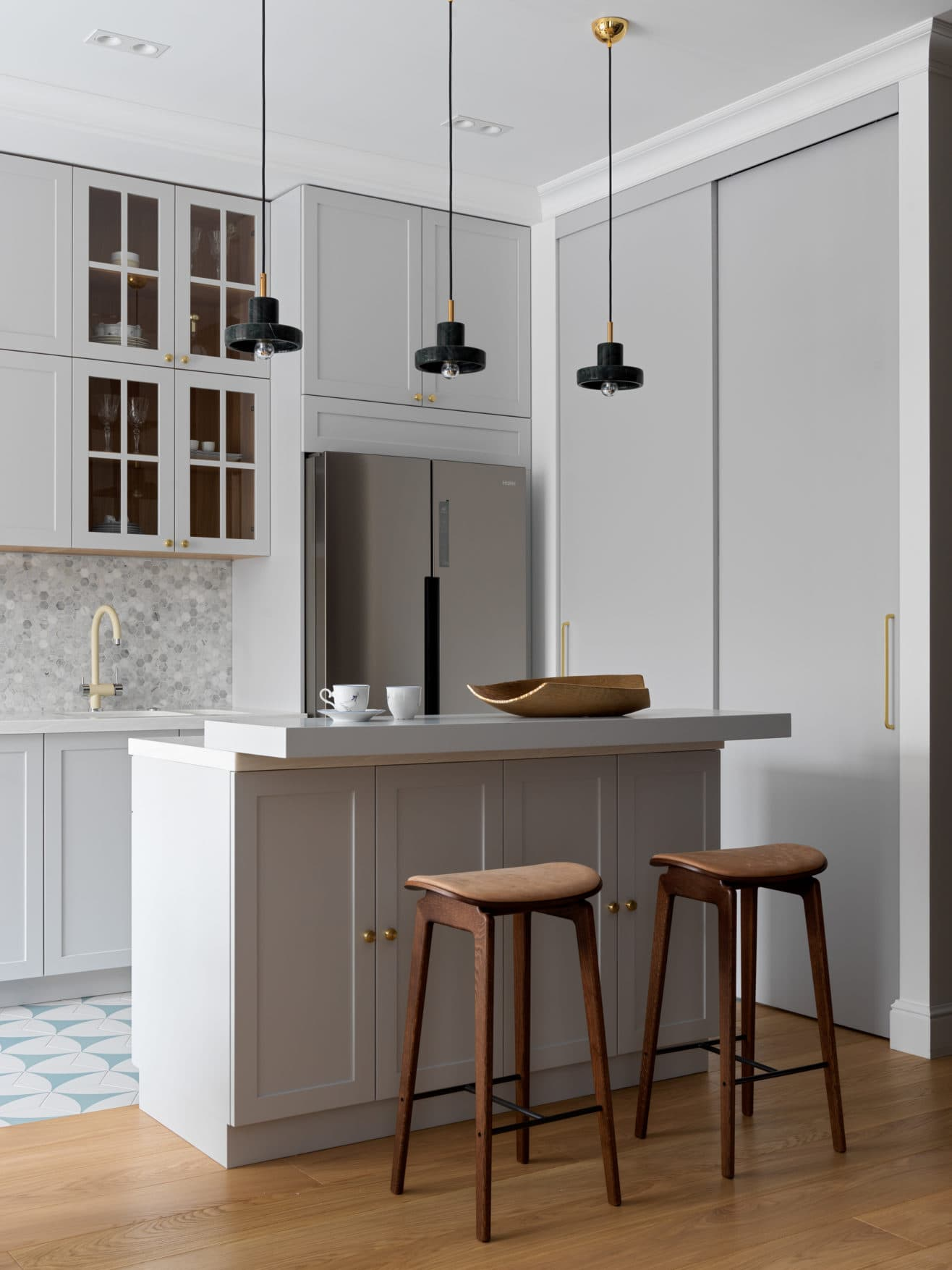this is a minimal industrial kitchen featured in ad magazine