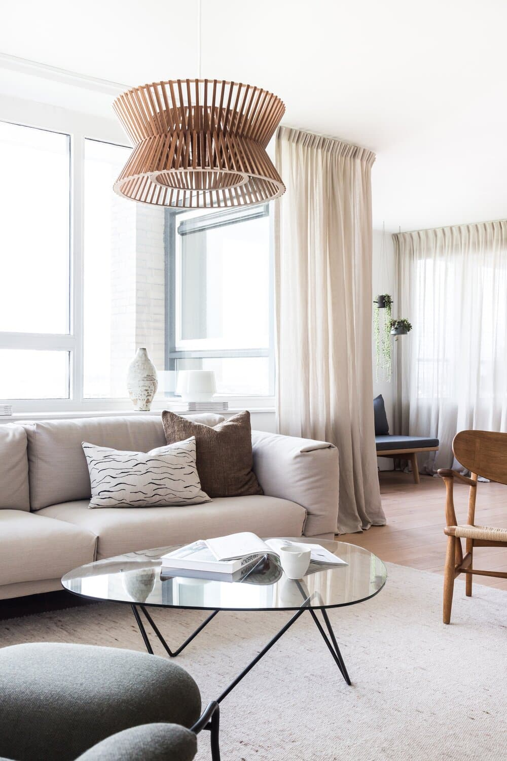 this is a modern penthouse by avenue design with neutral elements
