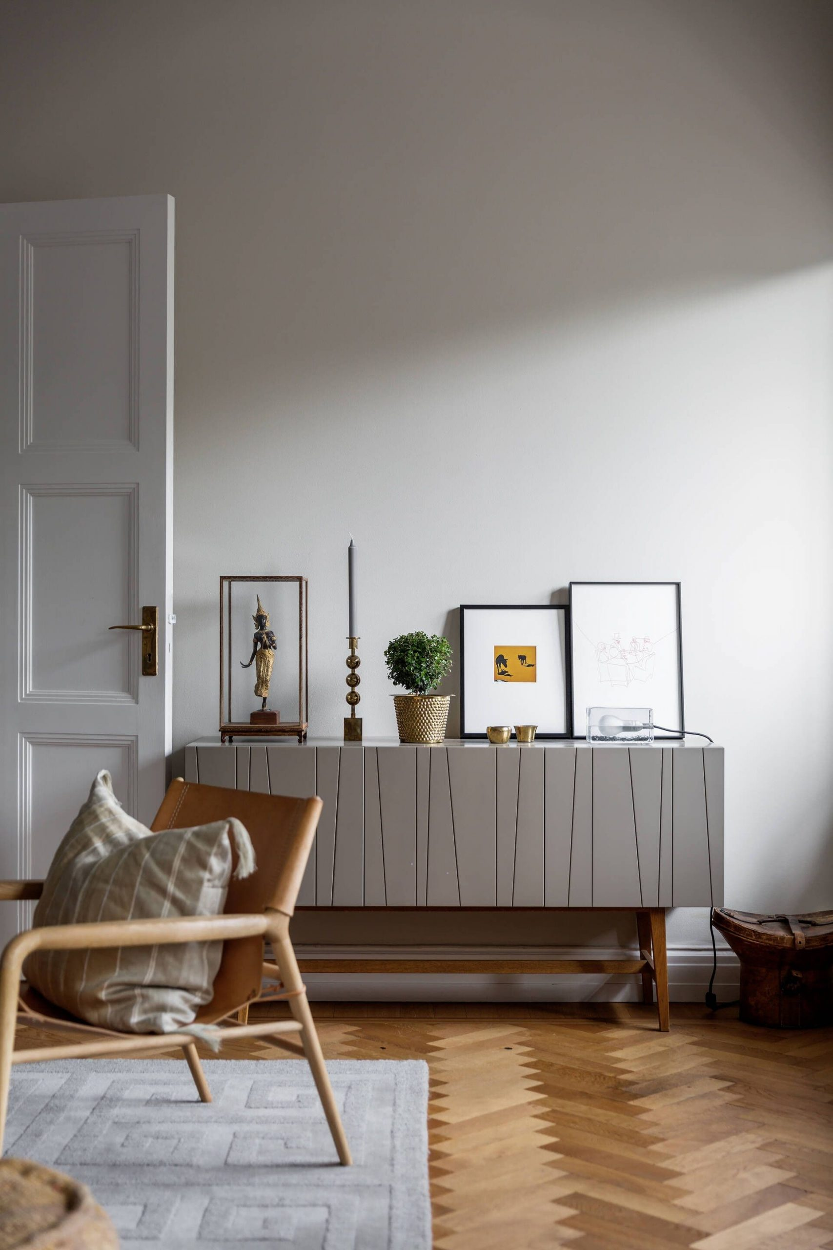 this is a scandinavian home with a hans j wegner chair featured on per jansson