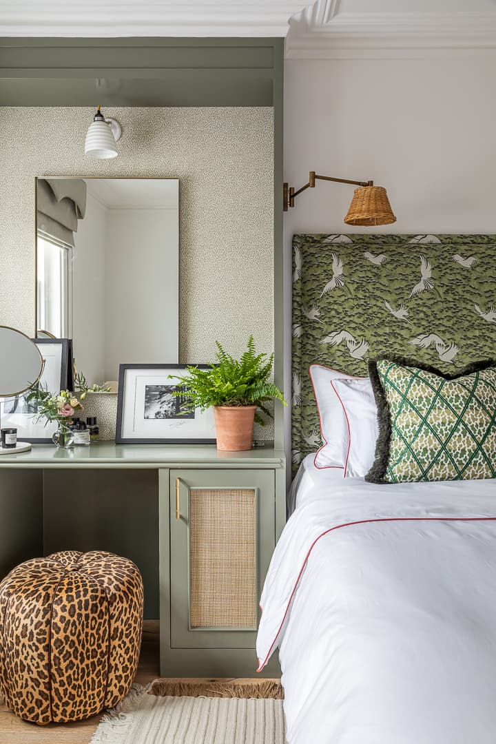 this is the entrepreneur bedroom with light summer duvets and vanity mirror by barlow and barlow